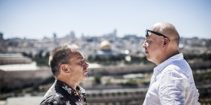 Arthur van Amerongen en Pieter Waterdrinker (foto Eyal Warshavsky)